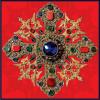 "Square neck scarf ""Cross-Reliquary""- img. 3"