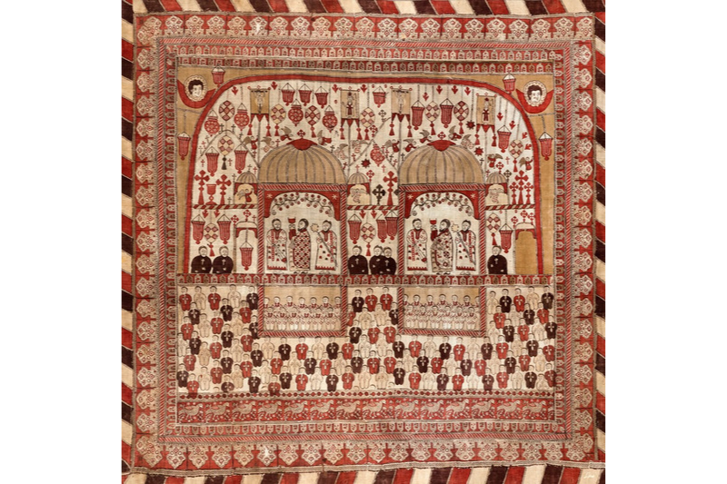 "Silk Scarf ""Curtain"" - img. 3"