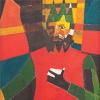 Մետաքսյա շարֆ «Ինքնադիմանկար անտիկ թագով»