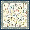 "Silk scarf ""Armenian medieval ornamental letters""- img. 4"