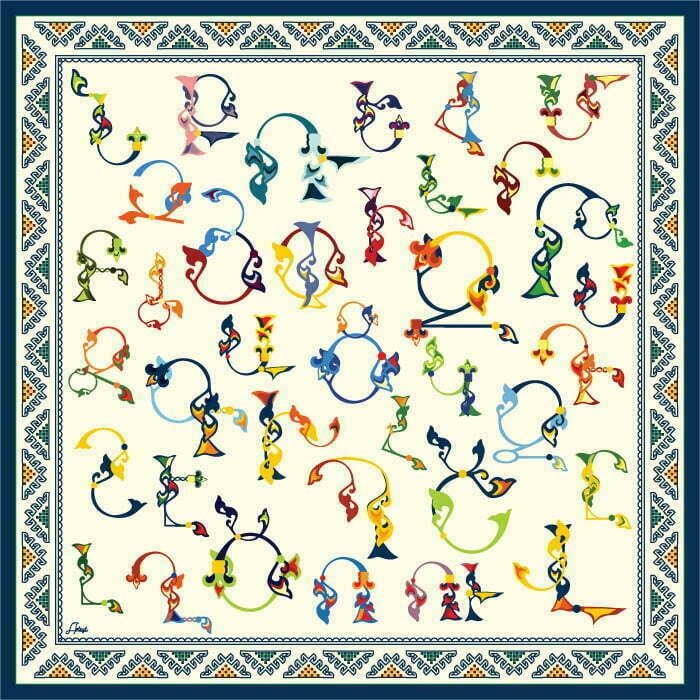 "Neck Scarf ""Armenian Medieval Ornamental Letters"" - img. 4"