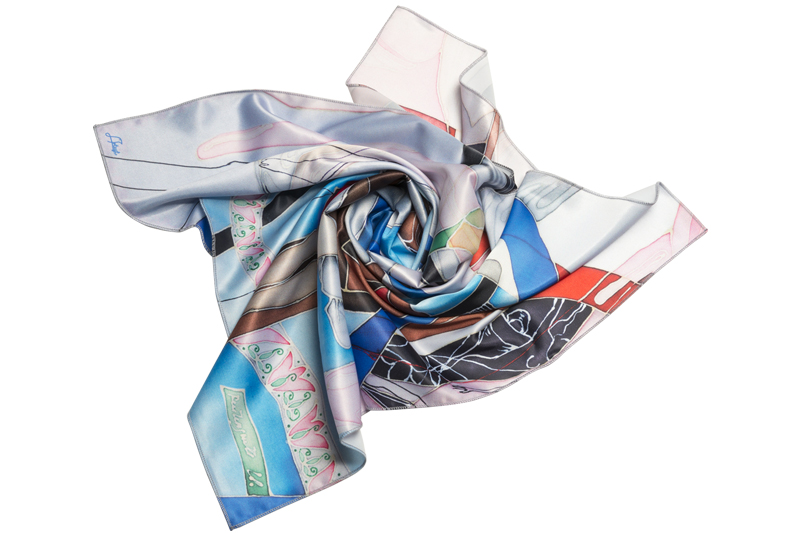 """Square neck scarf """"Mother Mary"""""""