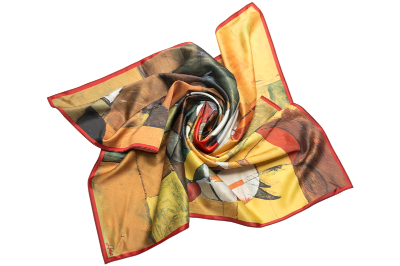 """Square neck scarf """"In the Saddle"""""""