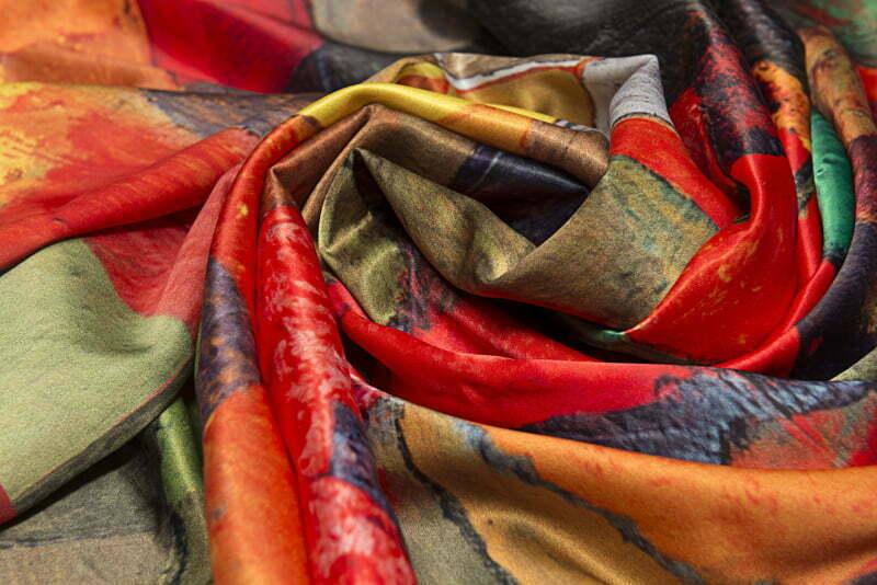 "Silk scarf ""Mayissyan Village"" - img. 2"