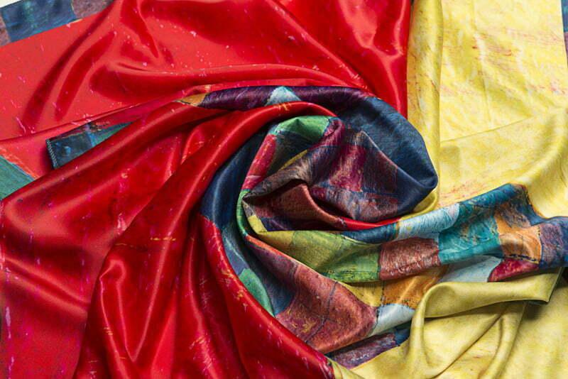 "Silk scarf ""In memory of Minas""- img. 2"