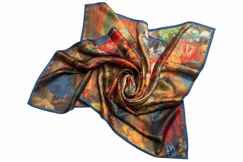 "Square neck scarf ""Moushtaid carnival"""