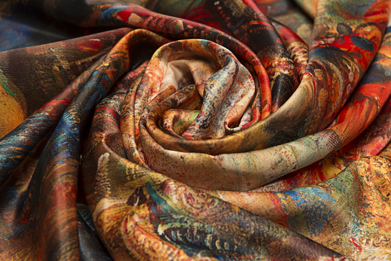 """Square neck scarf """"Moushtaid carnival"""" - img. 2"""