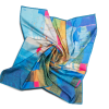 """Silk scarf """"Invention of the bicycle #4"""""""