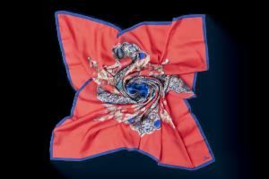 """Square neck scarf """"Cross-Reliquary"""""""