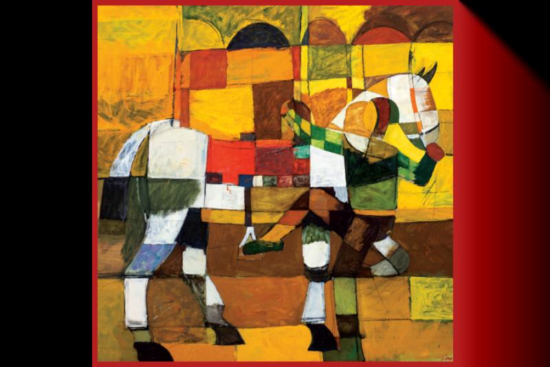 "Silk Scarf ""In the Saddle""- img. 3"