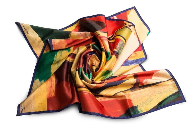 "Square neck scarf ""Spring"""