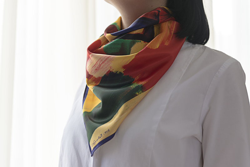 "Square neck scarf ""Spring"" - img. 2"