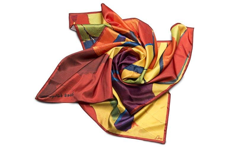 "Square neck scarf ""Autumn Alley"""