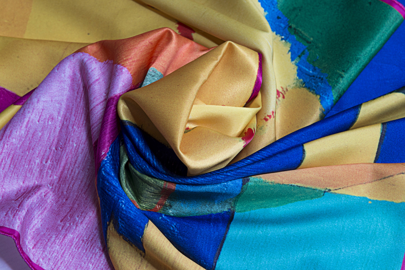 """Square neck scarf """"Northern Sun"""" - img. 3"""