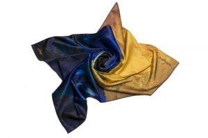 Շարֆ «Կապույտի և դեղինի կոմպոզիցիա»