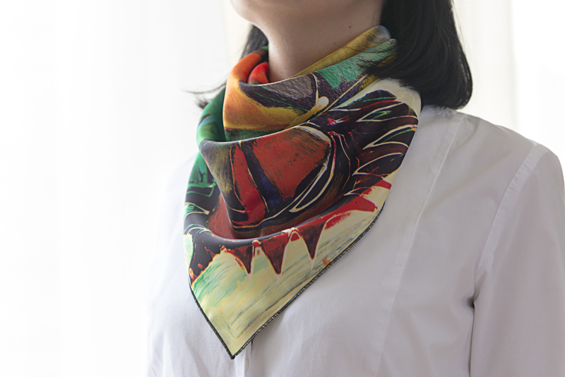 """Square neck scarf """"Siesta"""" - img. 2"""