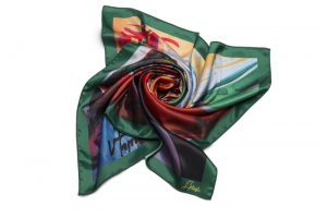 """Square neck scarf """"Ox"""""""