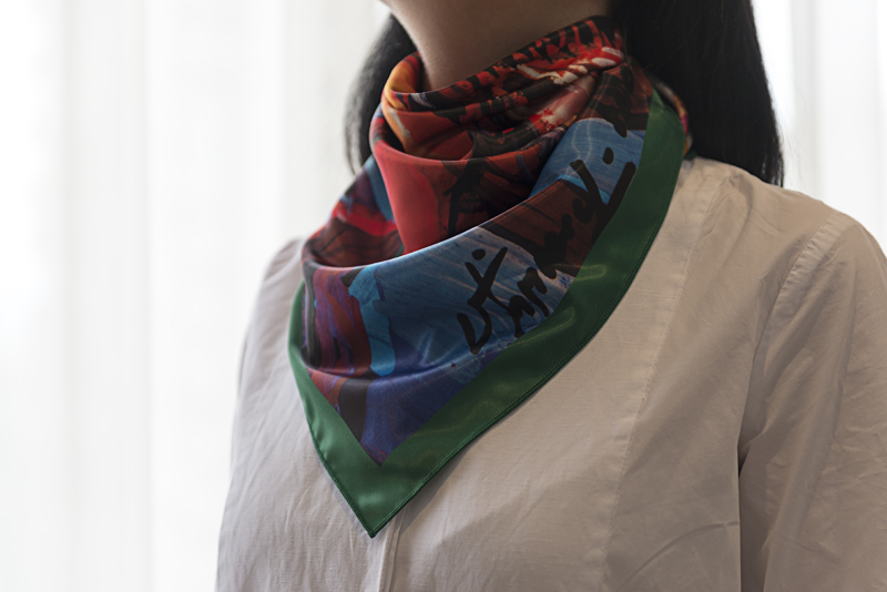 """Square neck scarf """"Ox"""" - img. 2"""