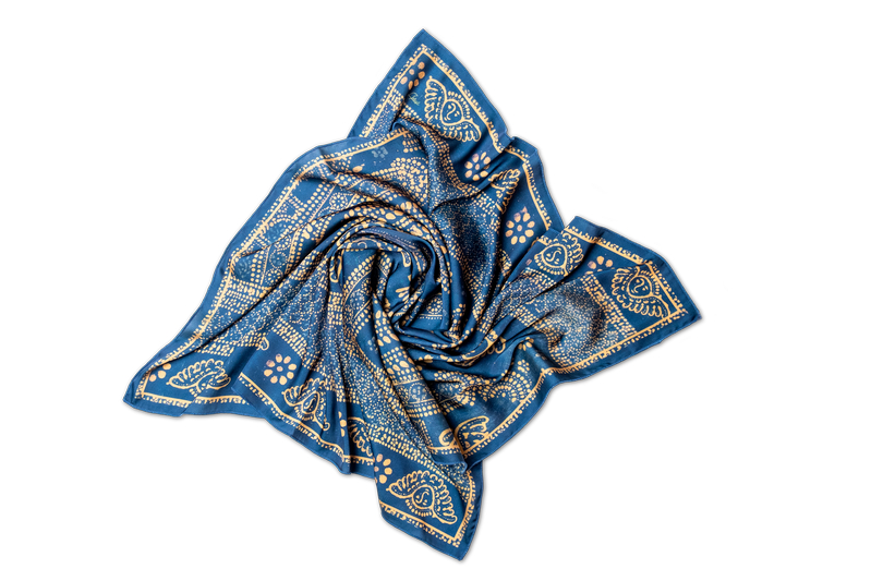 "Silk scarf ""A fragment of a curtain"""