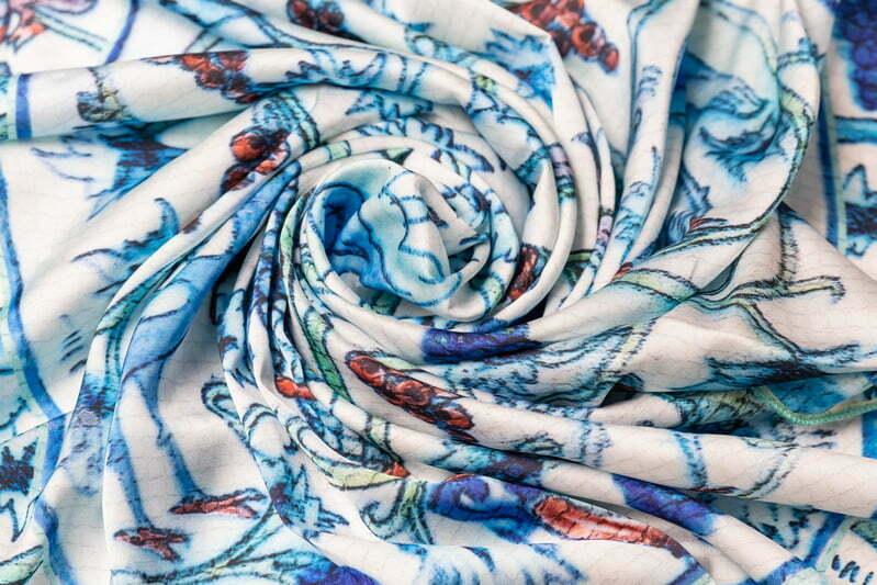 """Silk scarf """"Tray"""" img.-2"""