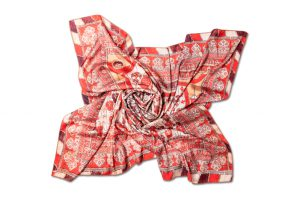 """Womens neck scarf """"Curtain"""""""