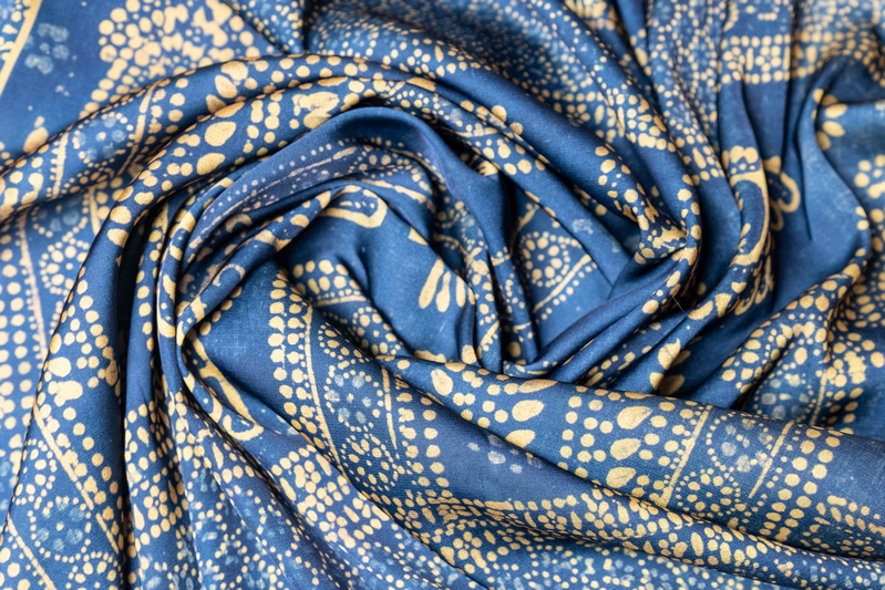 "Silk scarf ""A fragment of a curtain""- img. 2"