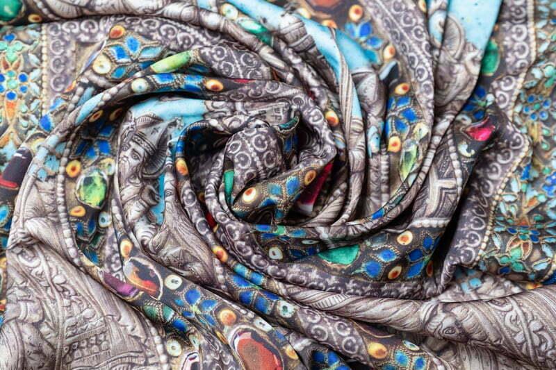 "Silk scarf ""Parzatumar""- img. 2"