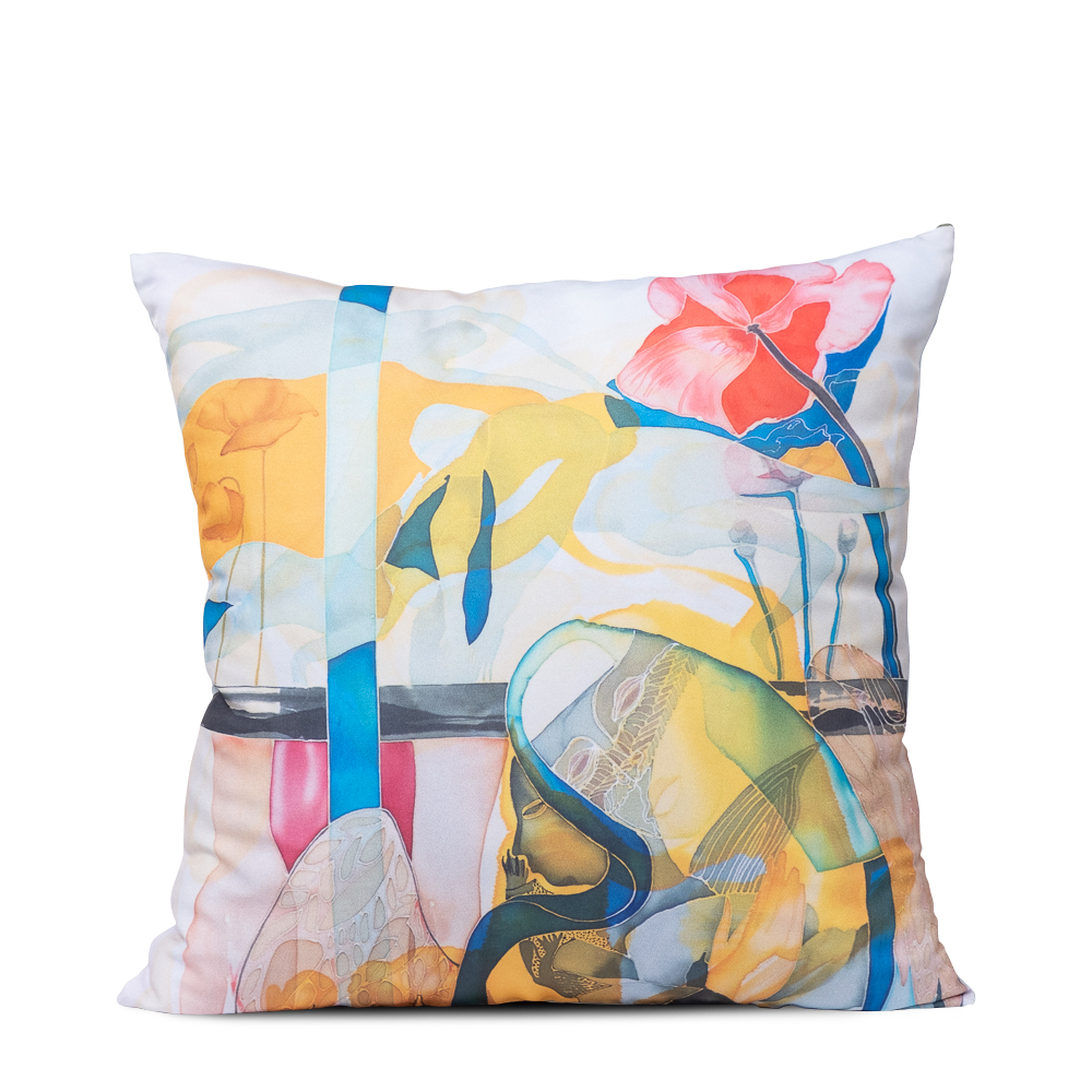 "Square art pillow ""Around the cross"""