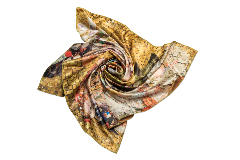 "Silk scarf ""Andersen's Birthday"""