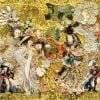 "Square neck scarf ""Andersen's Birthday"" - img. 4"
