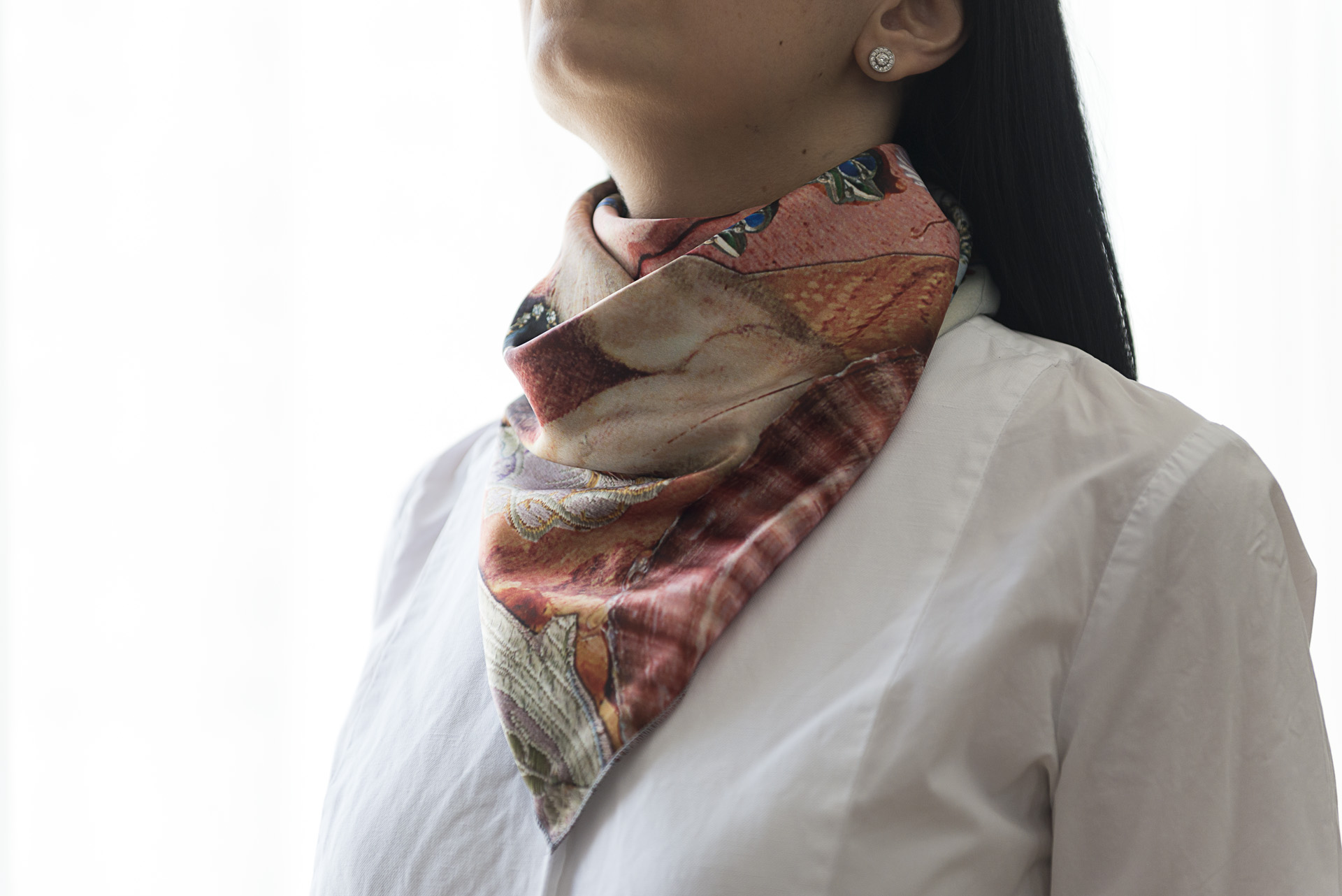 "Silk scarf ""Variation themes by Pinturicchio and Raphael"" - img. 2"
