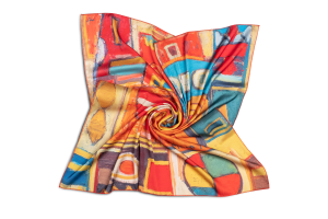 "Womens neck scarf ""Masquerade"""